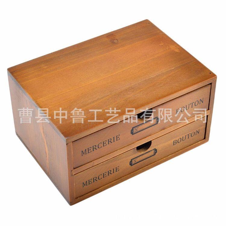 厂家直销zakka杂货木质工艺品 做旧木盒 收纳盒 创意手饰盒