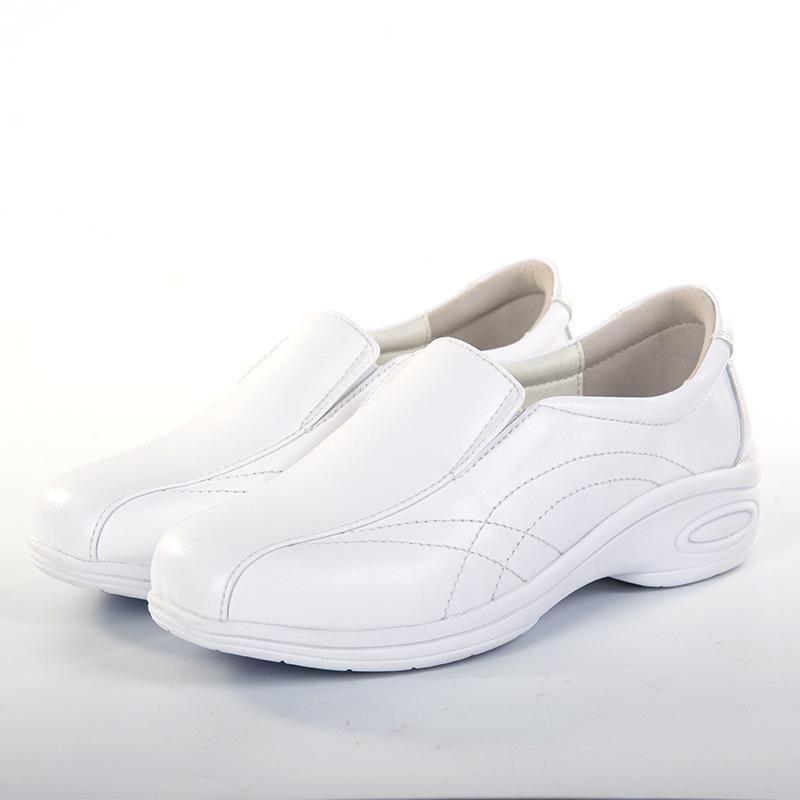 新款护士鞋白色气垫舒适单鞋防滑耐磨妈妈鞋软底孕妇鞋圆头休闲鞋