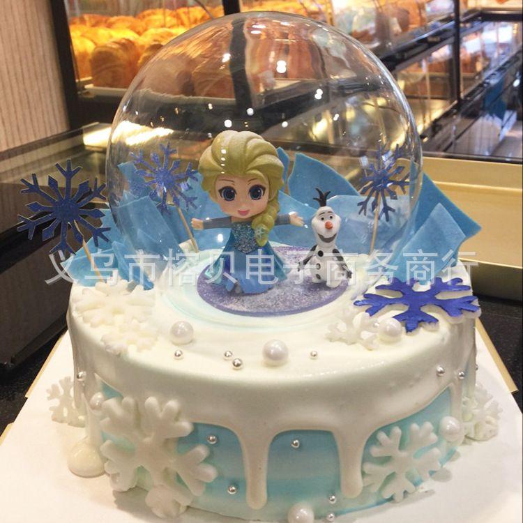 水晶球人偶罩灯罩 创意蛋糕装饰玻璃罩玻璃球 球形蛋糕装饰玻璃罩