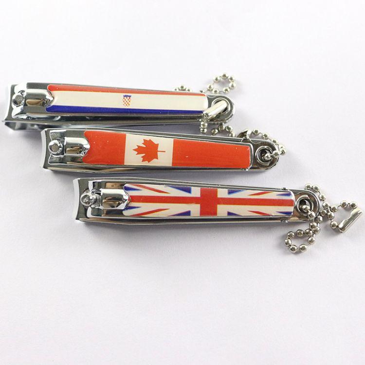 厂家美甲用品批发碳钢多功能指甲钳外贸出口指甲剪指甲刀带钥匙扣