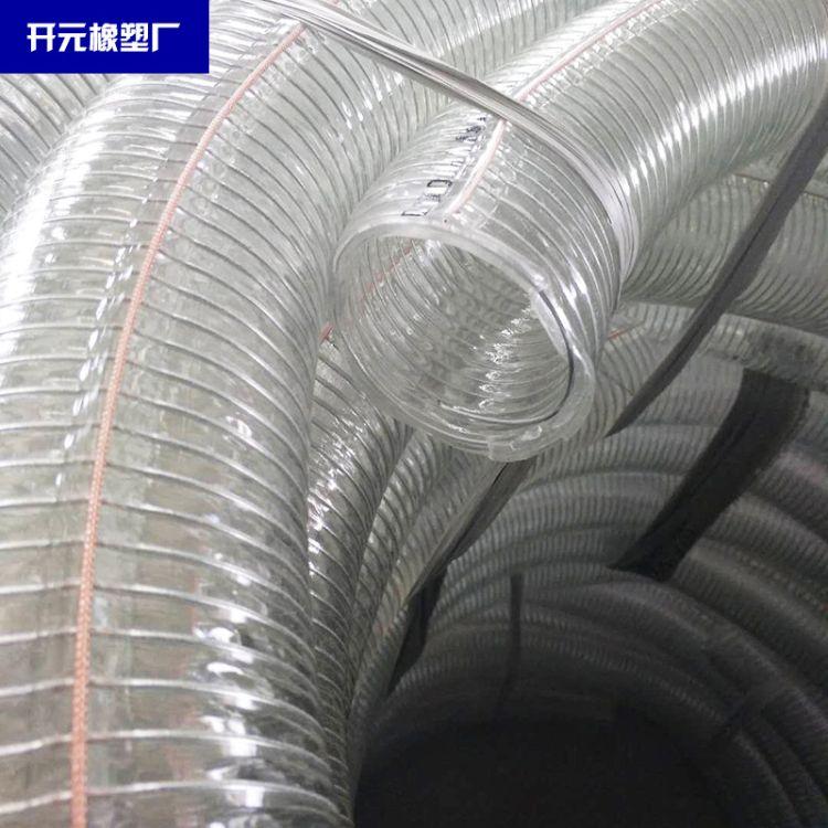 厂家供应透明钢丝静电管  铜丝防冻耐油透明管卸油用防冻管