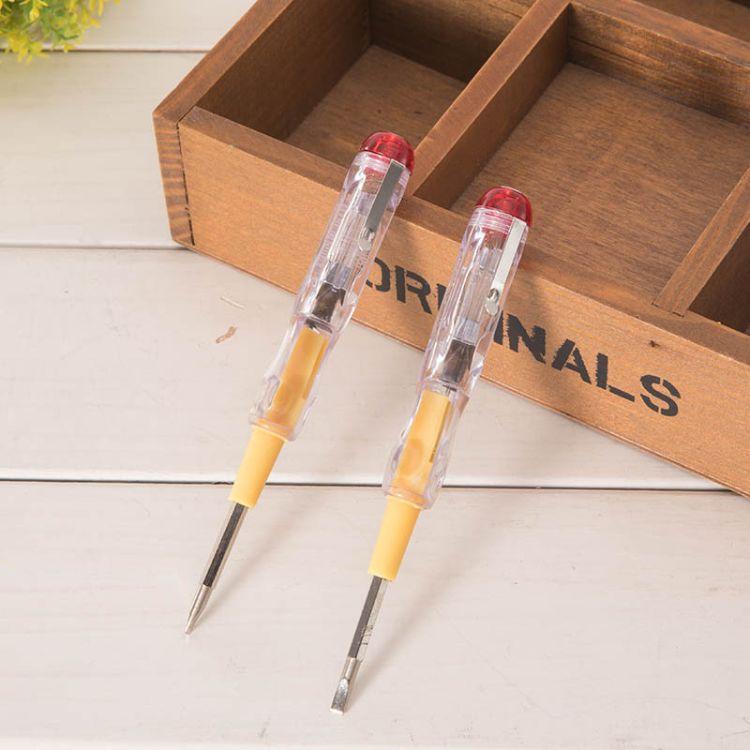 厂家直销电笔:135#双用透明测电笔新品多功能电笔电子感应试电笔