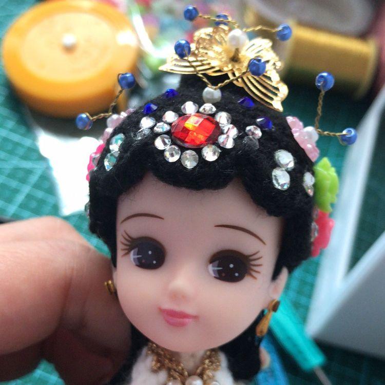 火爆手工编织娃娃 丽佳珍妮娃娃头 白蛇传系列编织娃娃头厂家直销