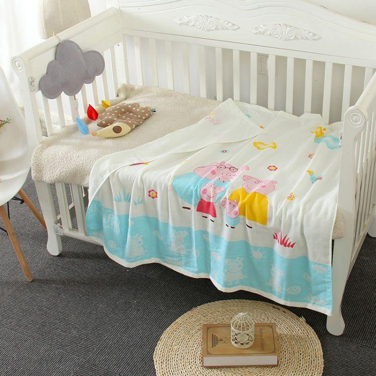 厂家直销纱布浴巾纯棉儿童毛巾被婴儿被子夏季午睡卡通幼儿园童被