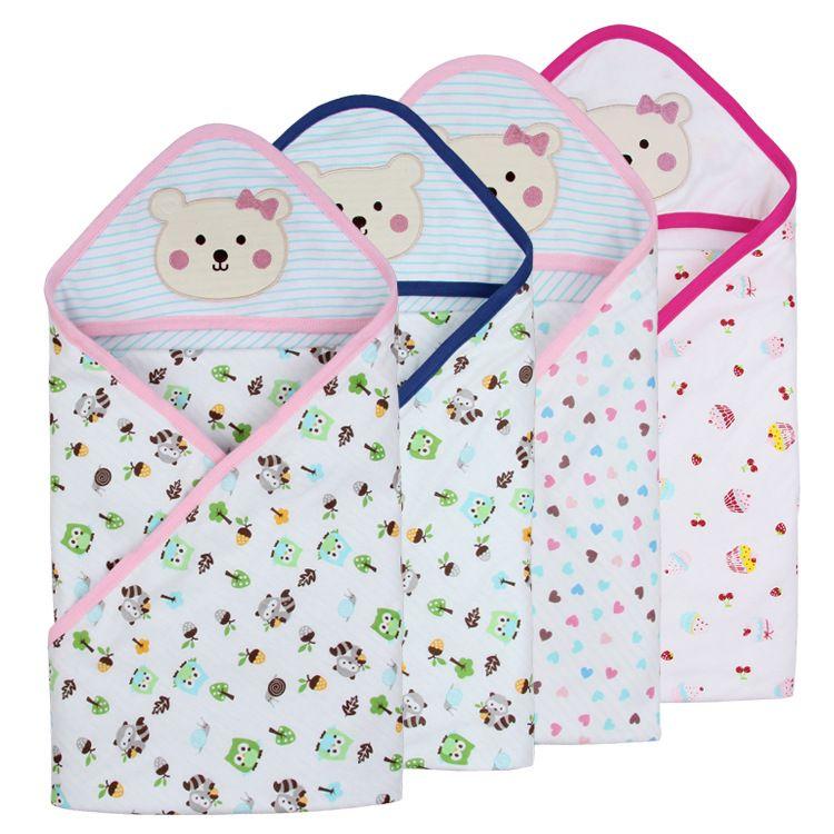 新生儿夏季纯棉抱被儿童双层包毯婴儿襁褓包巾宝宝用品工厂直销