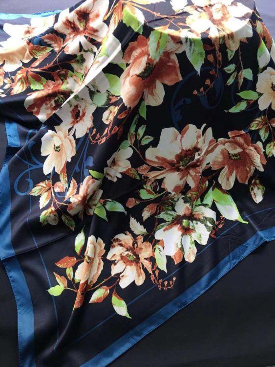 壹琳泰圍巾新款圍巾真絲印花色丁方巾印尼頭巾馬來西亞頭巾東南亞