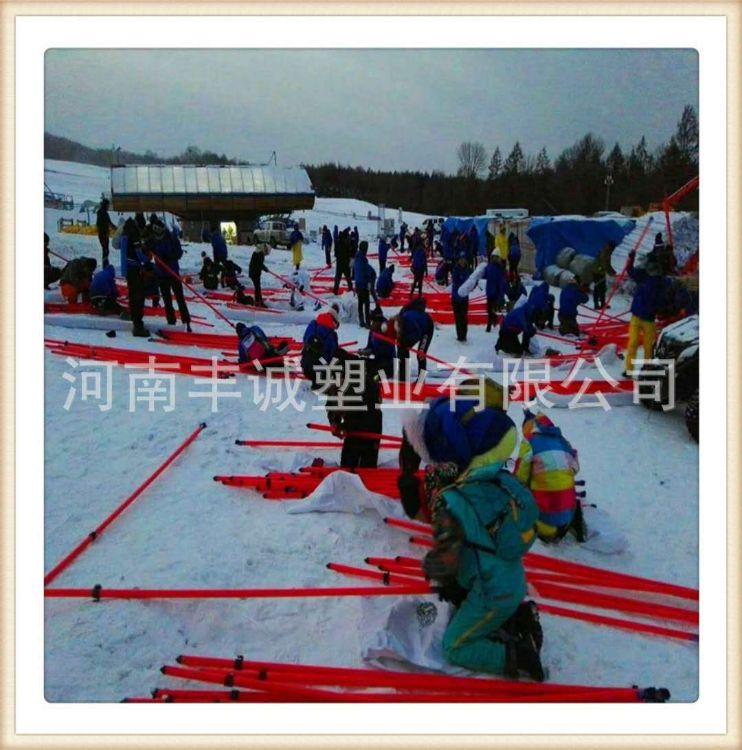 工厂现货滑雪专用防护网杆35 ,滑雪场雪道防护网杆 国际标准值