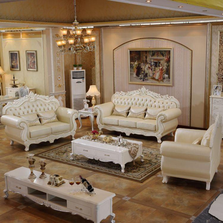 民用家具实木沙发真皮123沙发 高端转角实木沙发 法式 实木沙发