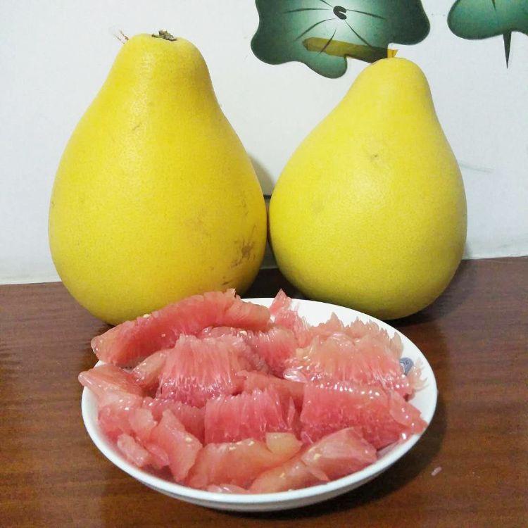 平和红柚红肉蜜柚红心柚�g溪蜜柚2个4.5-5斤水果 包邮