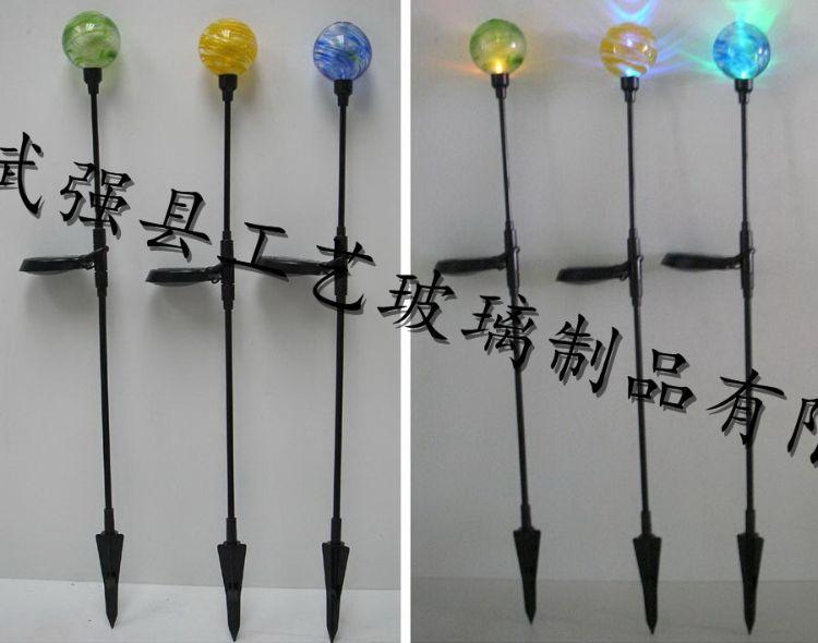 工艺 玻璃球 太阳能灯饰 玻璃灯罩