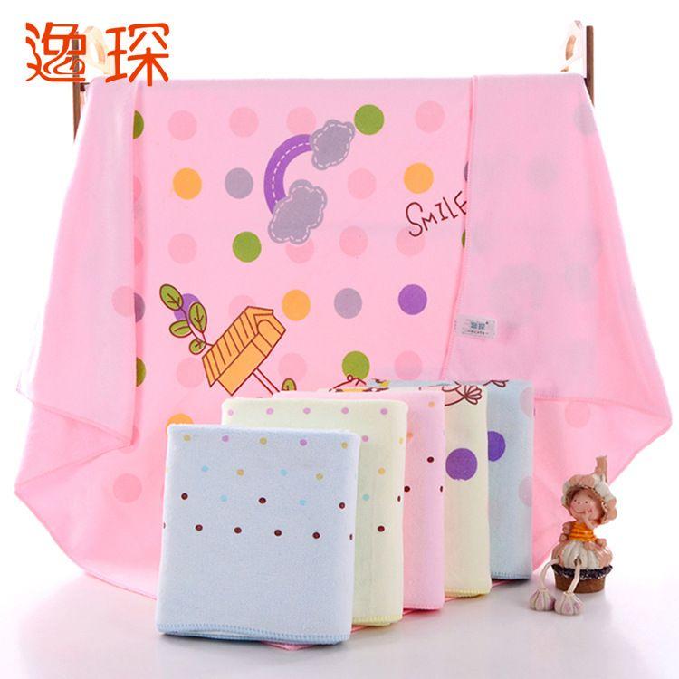 2018热销超细纤维印花童被 卡通盖毯 婴幼儿毛巾被 儿童抱被 厂家