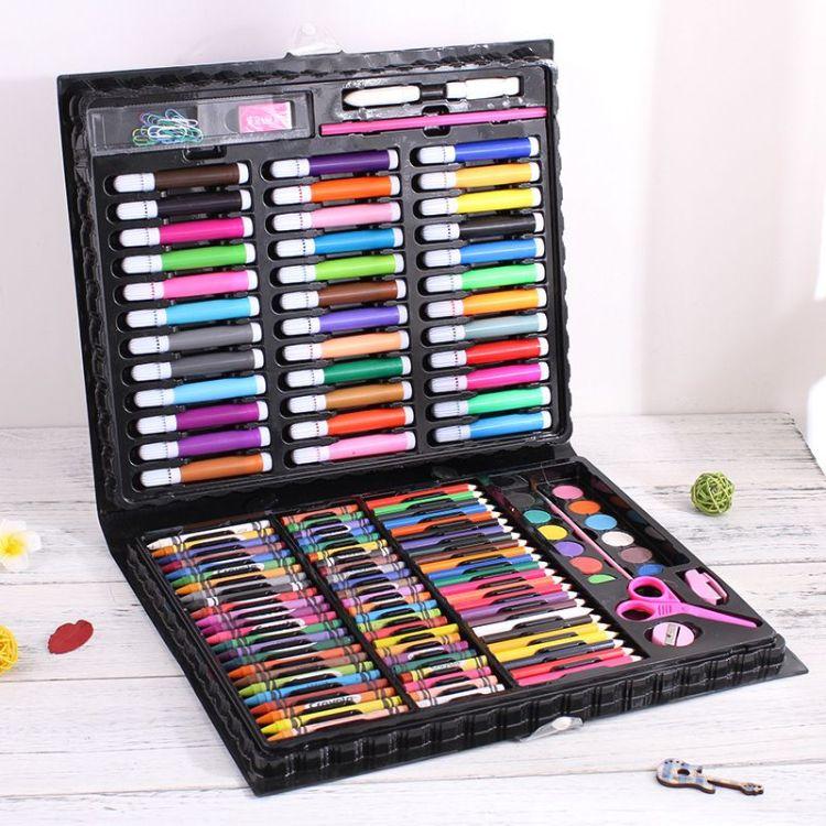 150画笔文具套装儿童礼盒水彩笔蜡笔彩色铅笔美术画画生日礼物