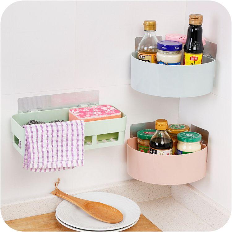 洗漱台卫生间储物筐 墙上强力无痕卫浴收纳架  厨房浴室置物架