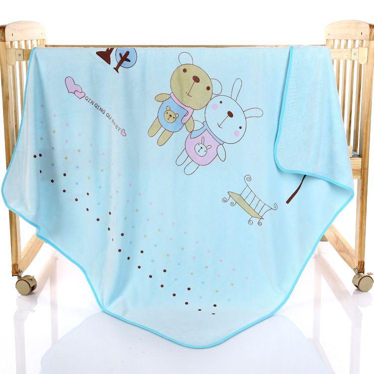 超细纤维方形童被 新生婴儿浴巾 宝宝盖被儿童毛巾被 柔软吸水