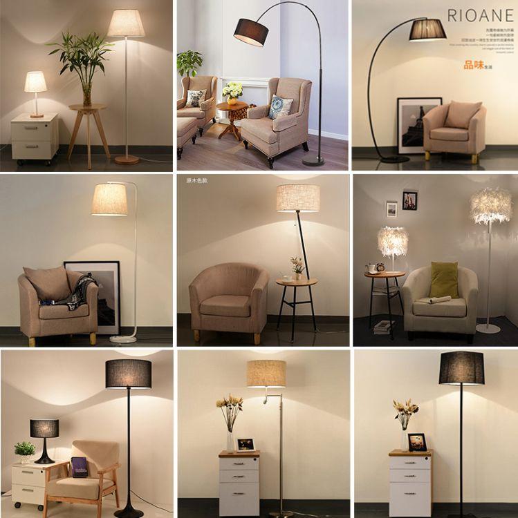 帝轩落地灯led北欧现代简约客厅卧室床头灯书房创意立式遥控台灯