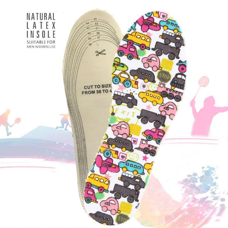 乳胶汽车卡通鞋垫 春夏不臭脚舒适鞋垫 休闲按摩鞋垫 透气鞋垫