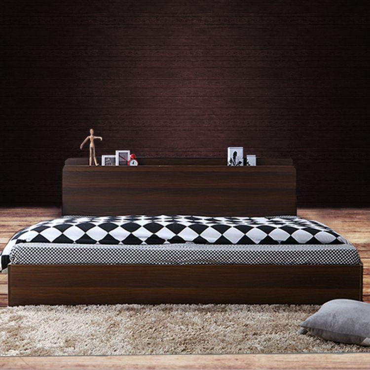 [双人床]现代风格板式双人床 1.8米床板式双人床厂家直销双人床