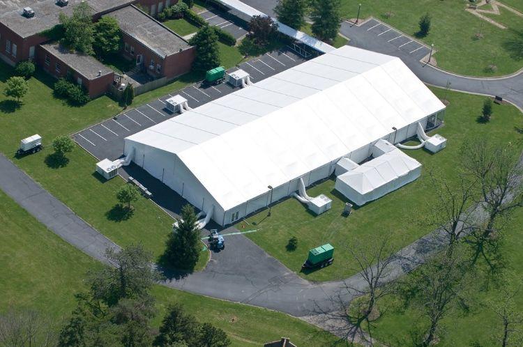 卡帕供应户外物流仓库篷房 大型铝合金结构帐篷仓库 价格优惠