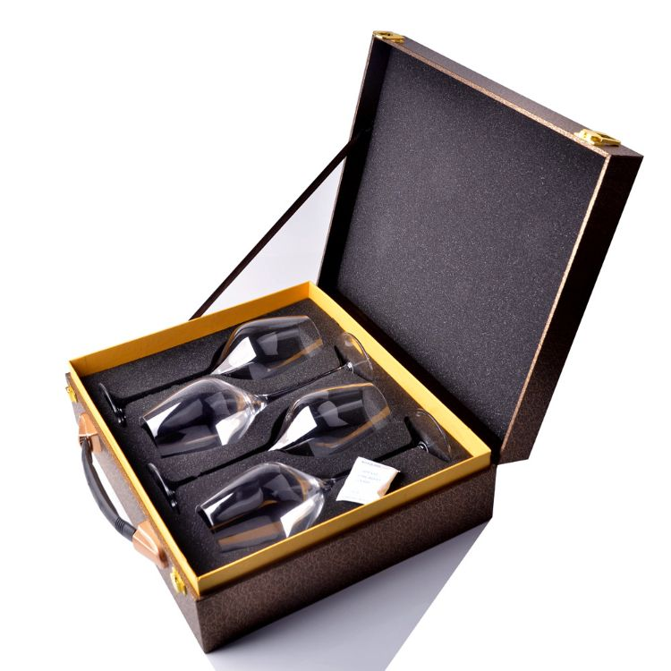 高档礼品水晶红酒杯 现货纯水晶无铅透明红酒杯套装 高档礼盒包装