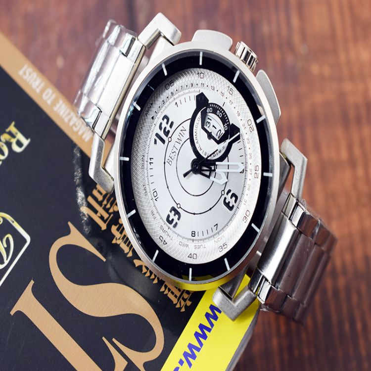 博士通正品防水石英男表大表盘多功能智能钢带手表DZT1002DZT1004