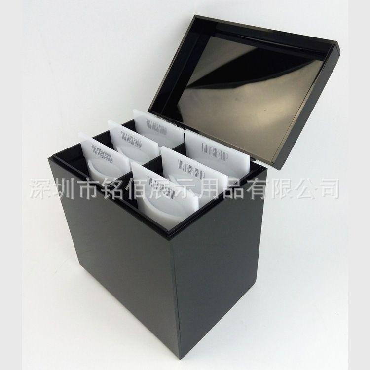 黑色亚克力睫毛盒 掀盖亚克力收纳盒 高档有机玻璃盒子定做