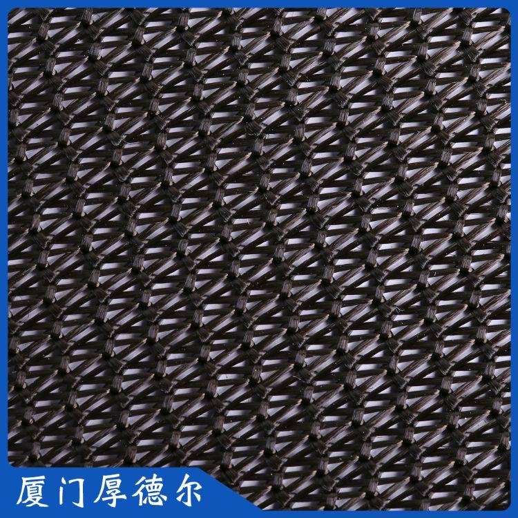 工厂直销经编涤纶军绿色波浪型网眼布 箱包手提袋网布