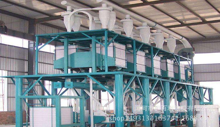 小麦加工设备二层钢架式面粉机组中型面粉厂机械小麦磨面机组设备