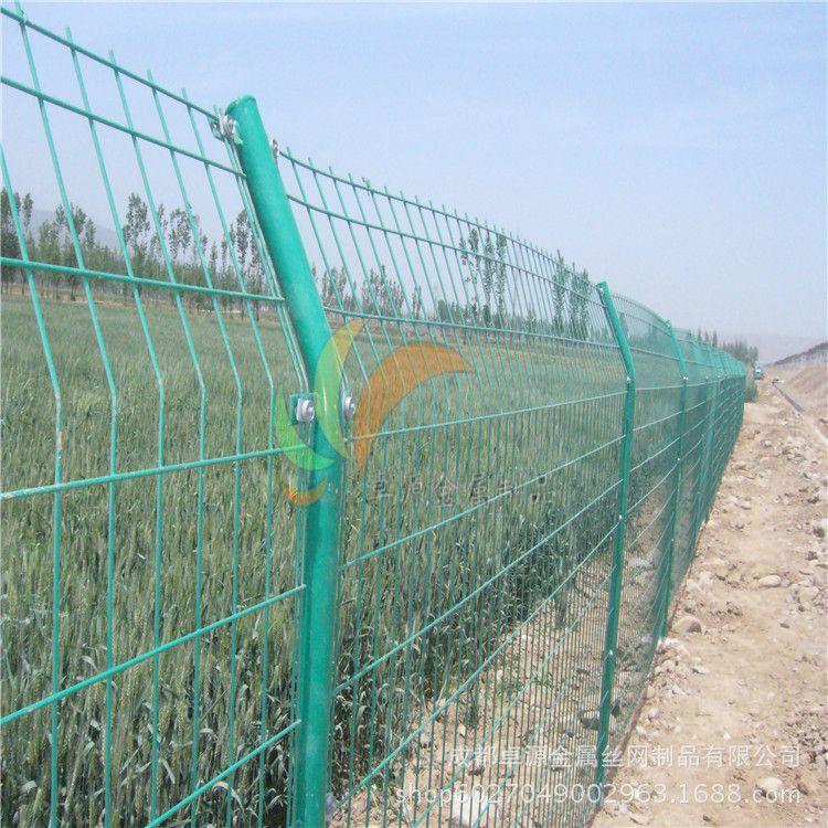 双边丝护栏网防护网围栏PVC绿色公路围栏防护网菜园护栏网铁丝网