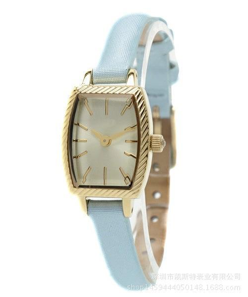 时尚日本品牌同款超小壳细表带女士不锈钢腕表机芯可贴牌