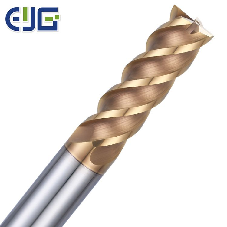 紫铜电极铣刀锋利单刃带U型槽进口钨钢材质数控刀具平底刀
