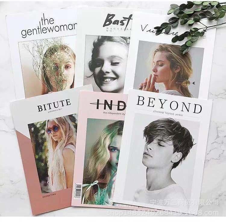 韩国杂志chic封面北欧ins简约风摆拍卡片卡纸少女彩妆拍照道具