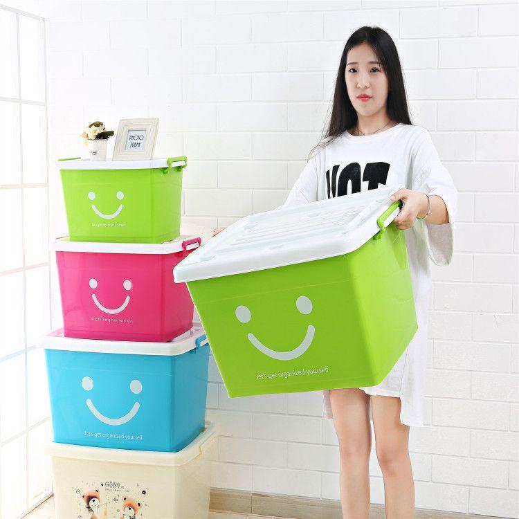 批发120#儿童卡通塑料收纳箱浴室玩具储物箱衣服餐具洗澡整理箱