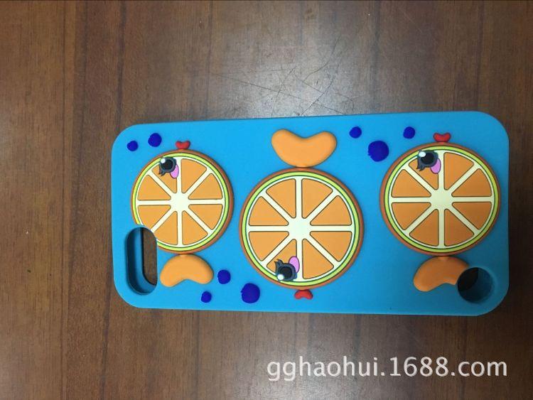 Touch5/6 苹果8柳橙鱼卡通硅胶手机套 手机壳定制 抗摔手机套