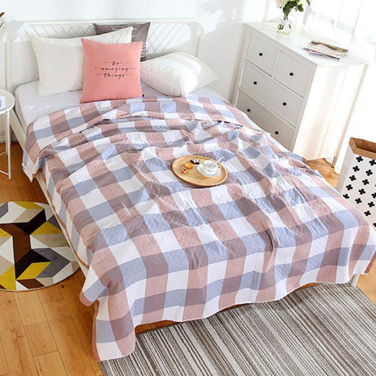 新款毛巾被纱布双人单人儿童学生毯子午睡毛毯盖毯全棉老式毛巾毯