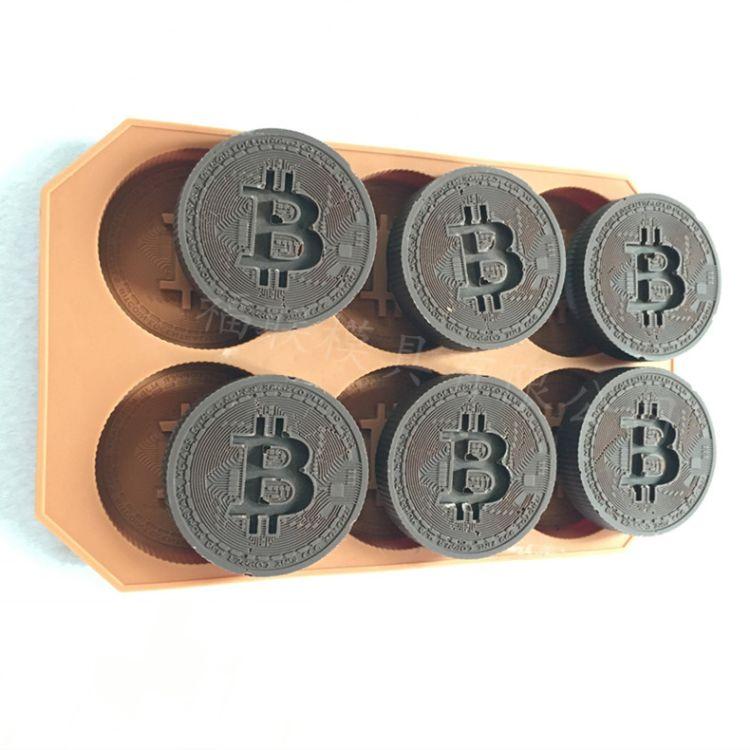 金币印章硅胶冰格 翻糖模具自制烘焙蛋糕模饼干 慕斯蛋糕硅胶模具