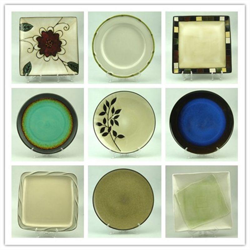 外贸特色餐厅餐具批发 手绘陶瓷盘子复古创意窑变釉餐盘 盘子