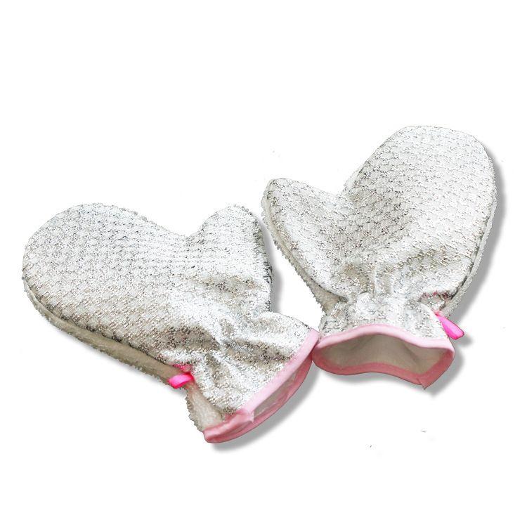 洗碗超细纤维塑料丝双面去油手套竹纤维不沾油洗碗手套