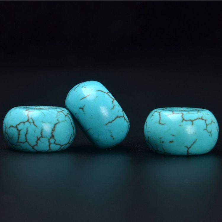 藏式佛珠配件尺寸18*10 优化松石散珠鼓珠 隔珠 DIY饰品配件批发