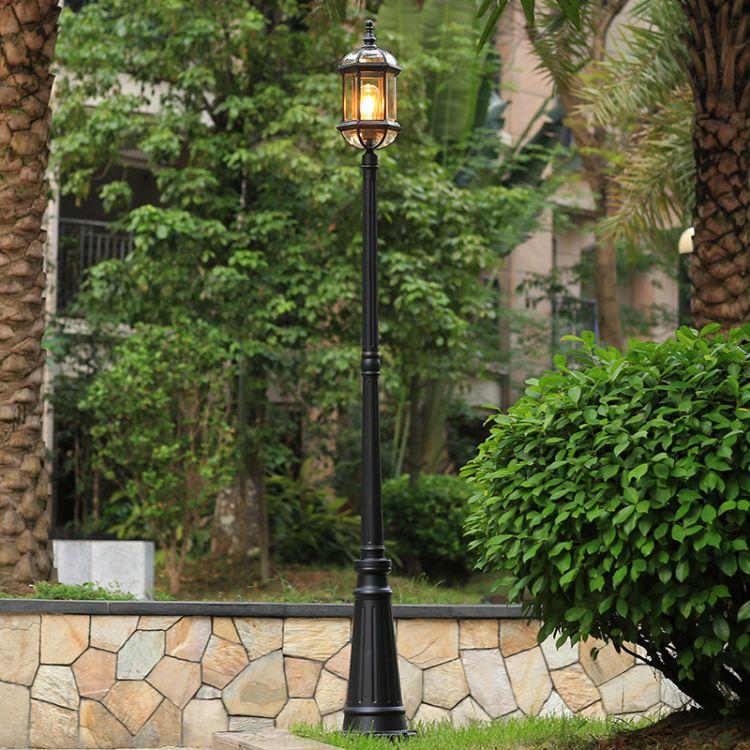 户外路灯景观花园庭院阳台别墅防水草坪草地小区大门高杆LED爆款