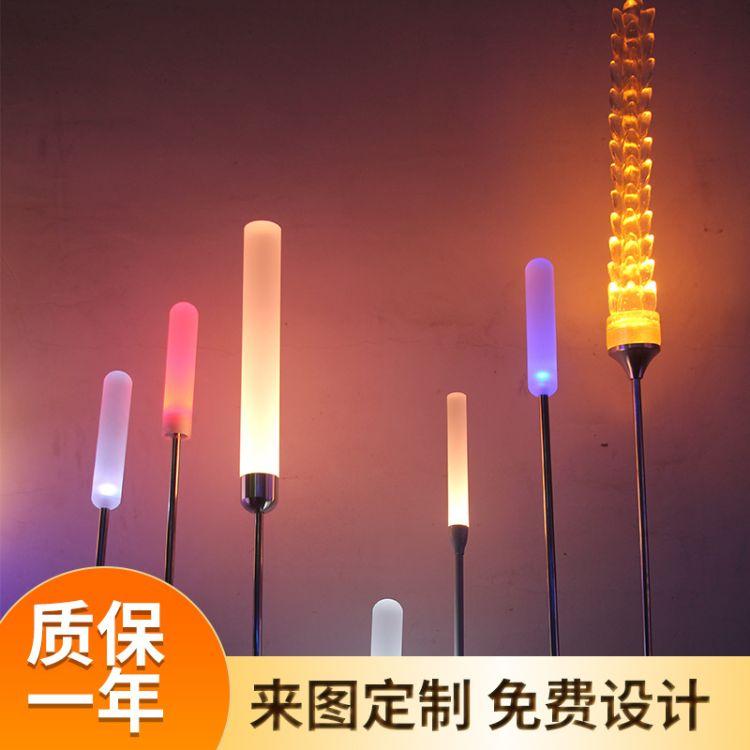 LED亚克力棒芦苇灯 户外防水地插草坪灯仿真芦苇灯公园装饰景观灯
