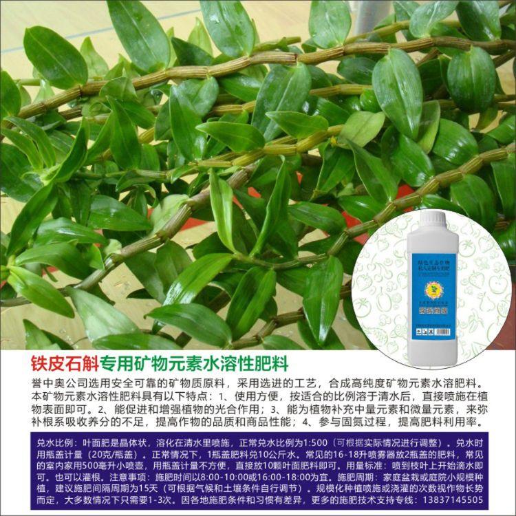 誉中奥高纯度矿物元素铁皮石斛专用叶面肥料 冲施肥料 滴灌肥