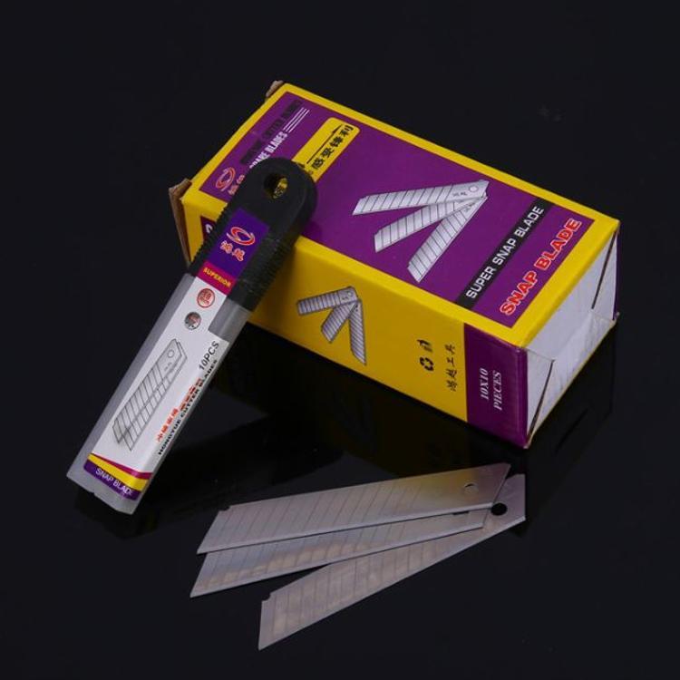 厂家直销鸿越0.6厚美工刀片裁纸刀片壁纸刀大号美工刀片 18mm介刀