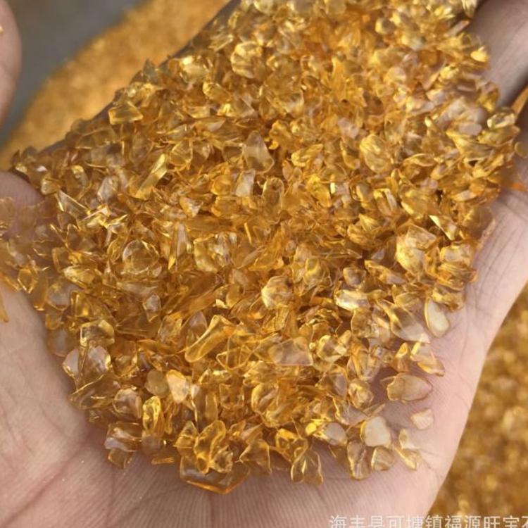 厂家直销 天然黄水晶 抛光黄水晶石天然碎石天然水晶 1000克批发