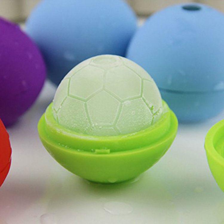 创意外贸礼品硅胶足球冰格制冰模具 巧克力雪糕冰块模具