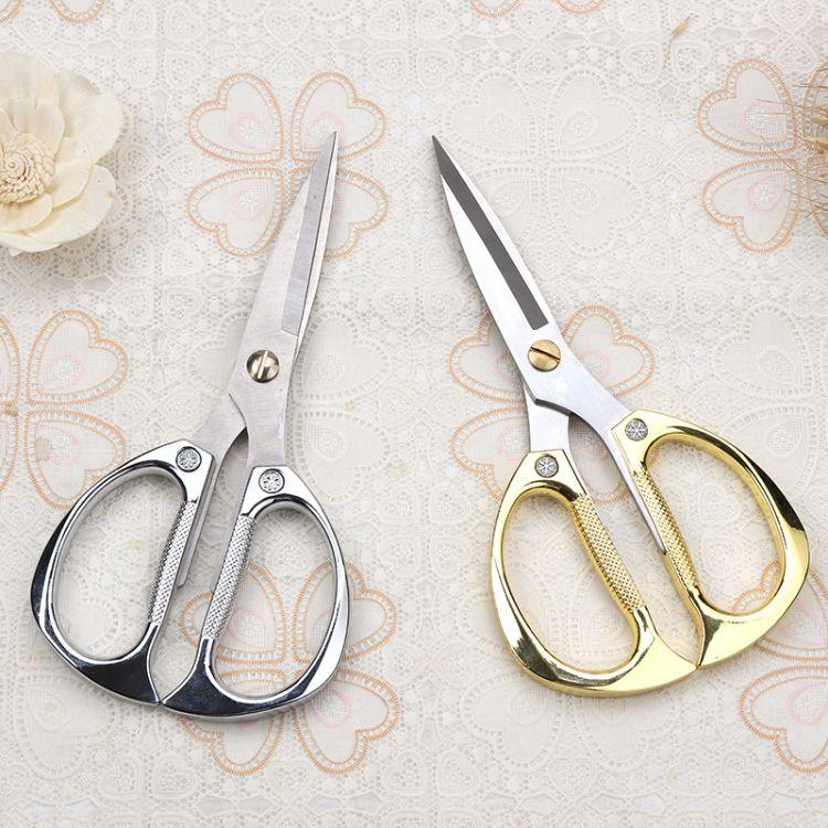 厂价批发K82 裁缝剪金色强力 不锈钢强力厨房剪 多功能家用办公剪