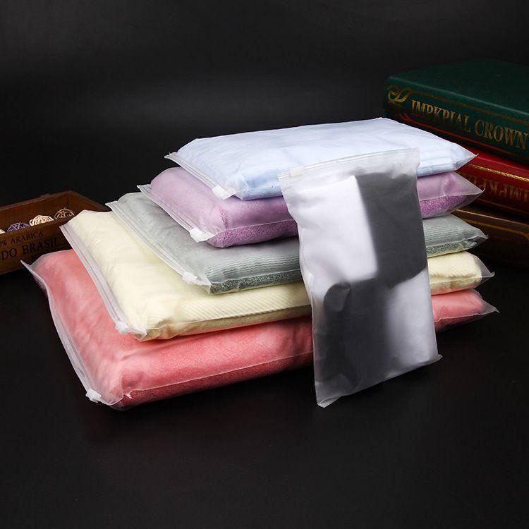 现货加印磨砂拉链袋 服装包装袋 PE透明自封袋EVA服装拉链袋定制