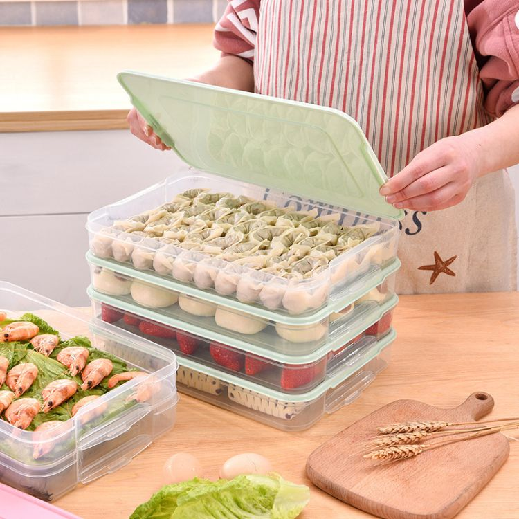 大号加高饺子盒 冻饺子家用冰箱保鲜收纳盒 速冻水饺馄饨盒