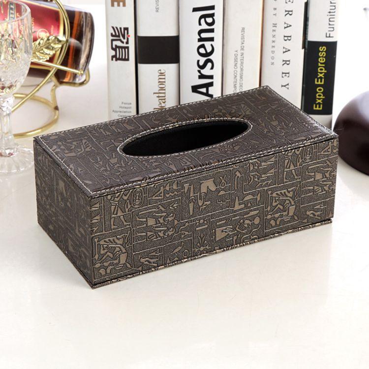 pu纸巾盒皮革抽纸盒时尚纸抽盒厂家批发开业礼品定制LOGO生活用品
