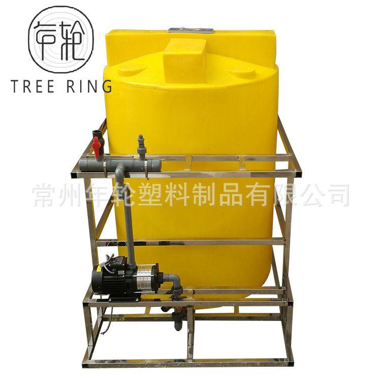 全自动加药装置二氧化氯絮凝剂加药装置系统化工桶加药装置搅拌桶