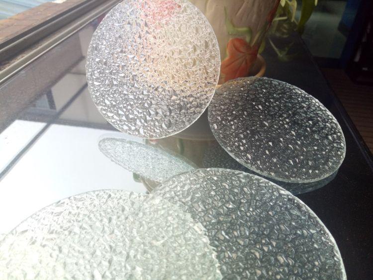 压花玻璃原片水纹灯玻璃 钻石纹玻璃投影灯专用幕墙灯具压花玻璃